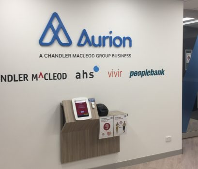 foyer of Aurion Toowong office