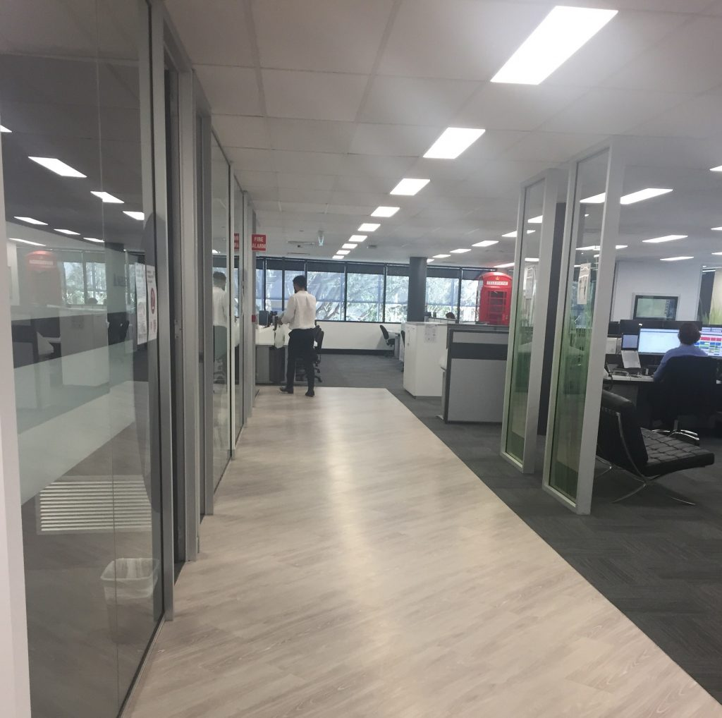 Aurion Toowong office walkway