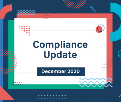 Aurion December 2020 compliance update